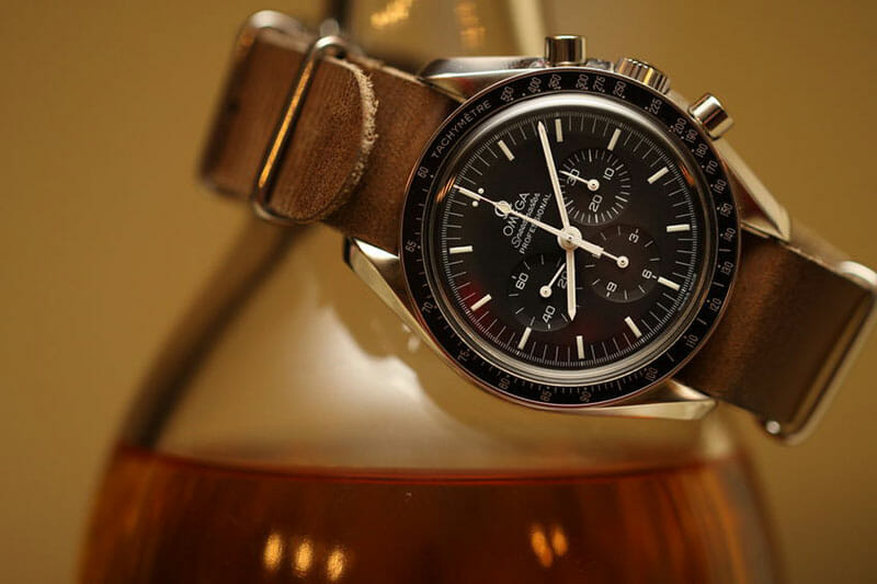 Omega speedmaster watch on nato strap